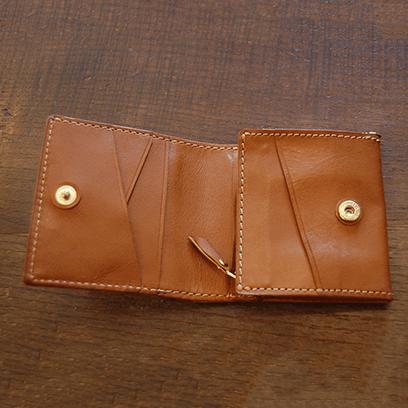 二つ折りL字ファスナー財布